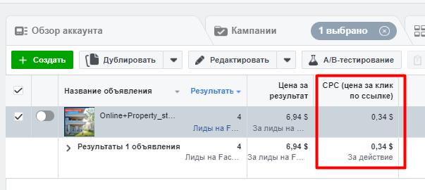 Нестандартный способ анализа эффективности рекламной кампании Лидогенерация в Facebook фото 2